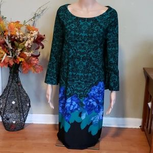 NWT Cato bot garden bell sleeve midi dress